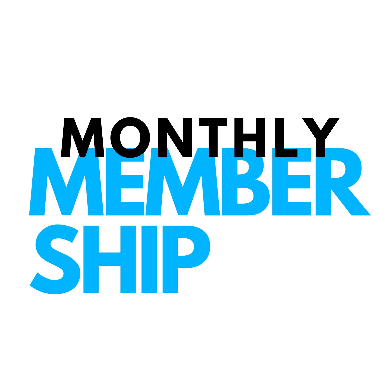 Monthly Membership is a surf package option for those learning to surf or who want to improve their surfing. This image is a 2D design with the words Monthly Membership